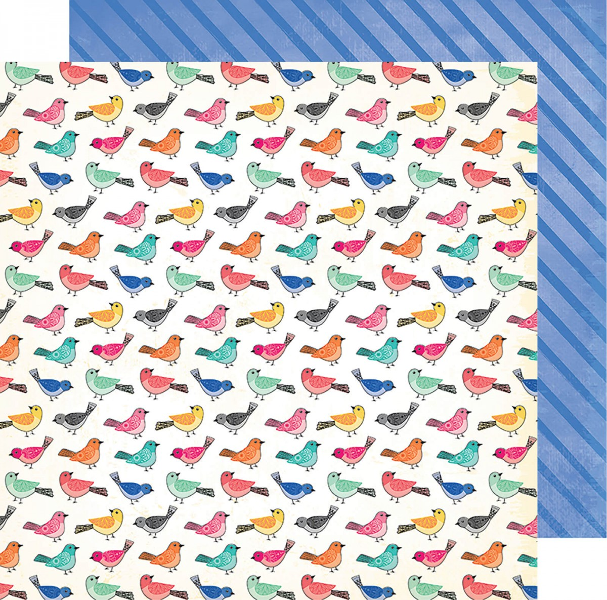 Papel Estampado Doble Cara 12x12   All The Good Things   Birds Of A Feather