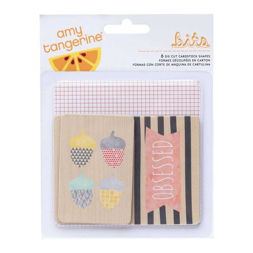 Chipboard Shapes Stitched Amy Tangerine