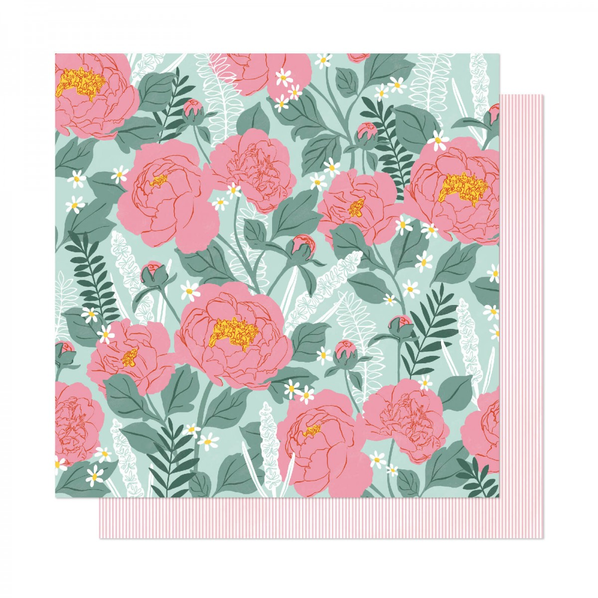 Papel Estampado Doble Cara 12x12 It's All Good Bloomed