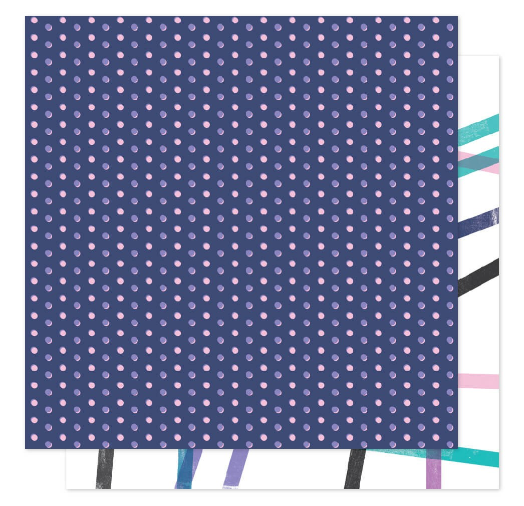 Papel Estampado Doble Cara 12x12 Sparkle City Here To There