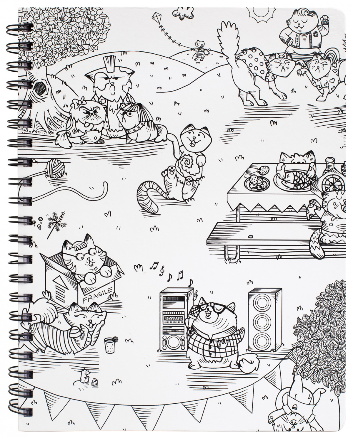 "Kitty Karaoke Large Sketchbook 8,5"" x 11"""