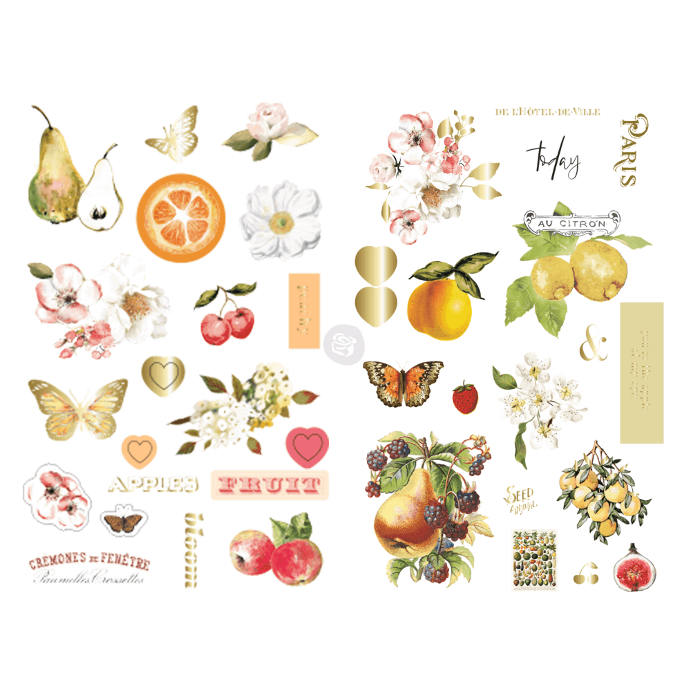 Chipboard Fruit Paradise