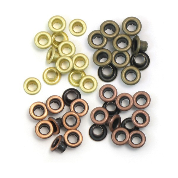 60 Eyelets Metal Cálido 5 mm
