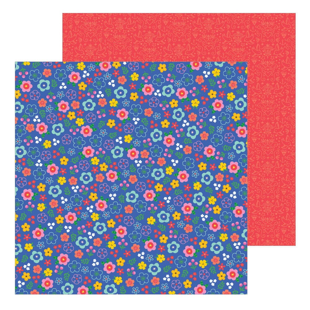 Papel Estampado Doble Cara 12x12 Big Top Dreams Confetti