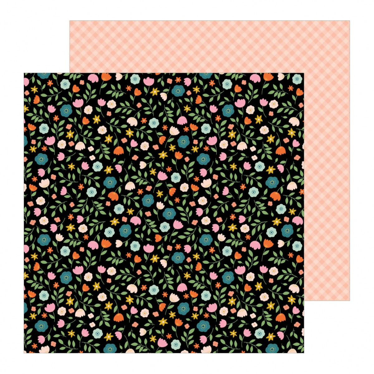 Papel Estampado Doble Cara 12x12 This Is Family Flower Patch