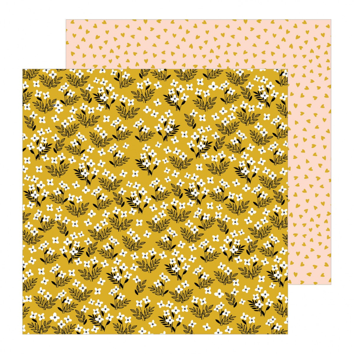 Papel Estampado Doble Cara 12x12 This Is Family Golden Field
