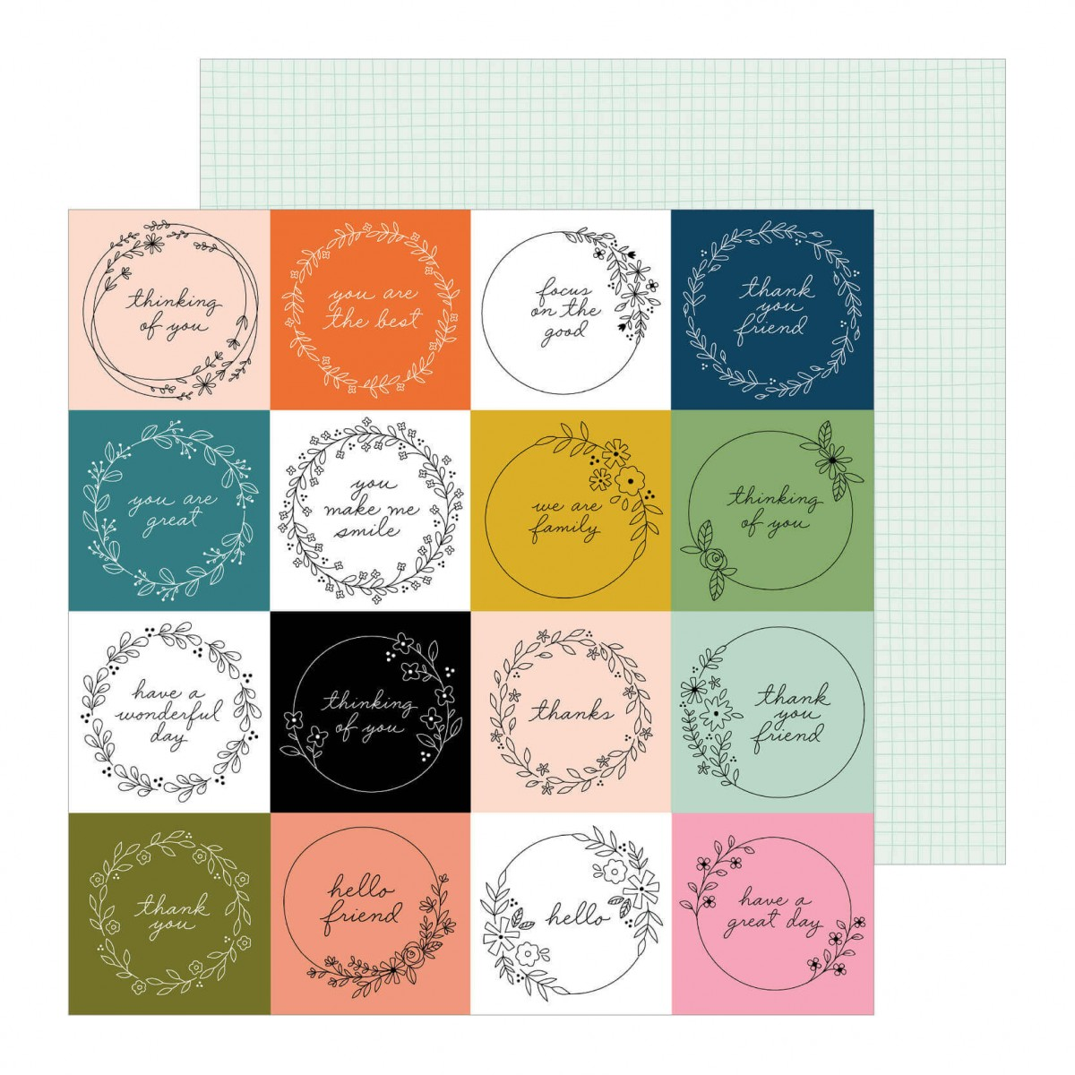Papel Estampado Doble Cara 12x12 This Is Family Tag You're It
