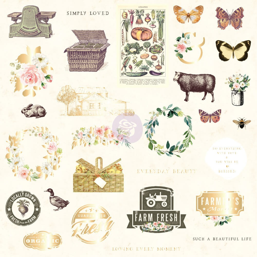 Die Cuts Spring Farmhouse Shapes