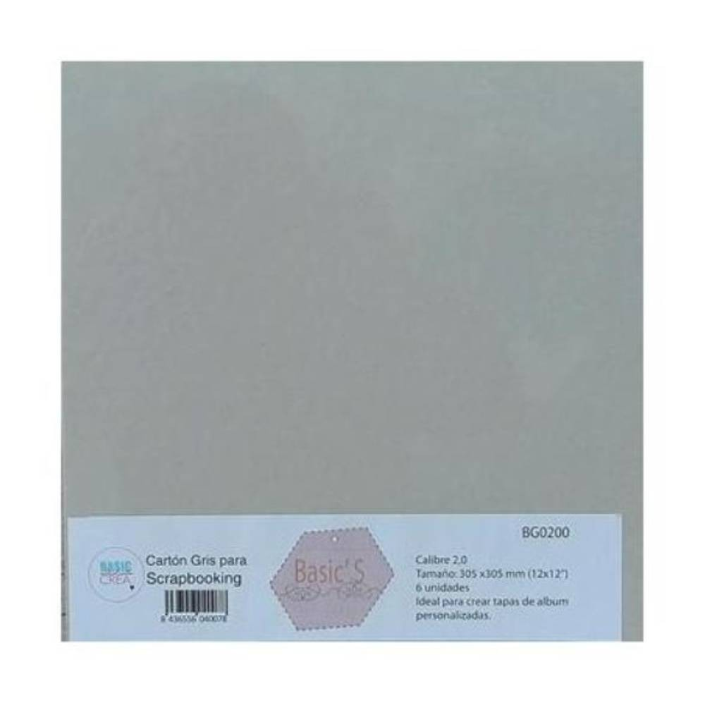 "Set de 6 Chipboard 12"" x 12"" 2 mm"
