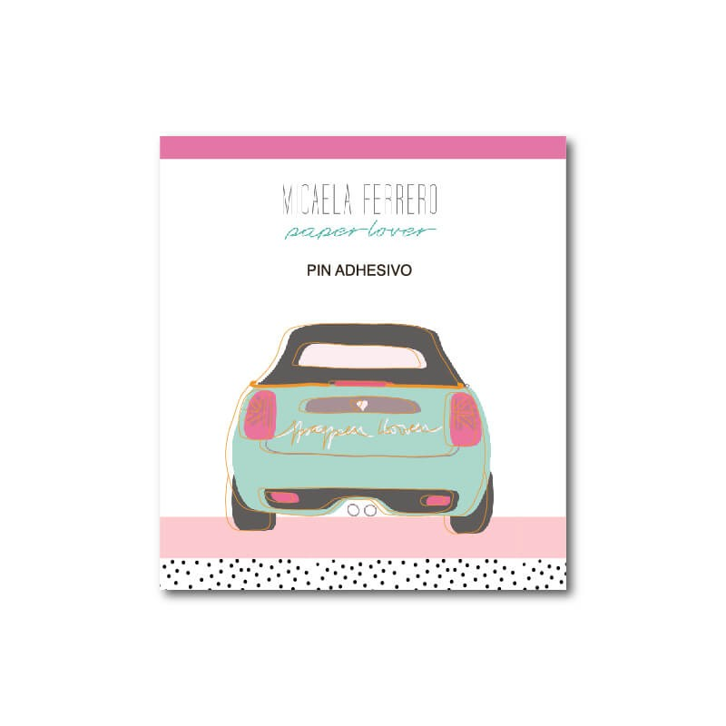 Pin Paper Lover Adhesivo Mini