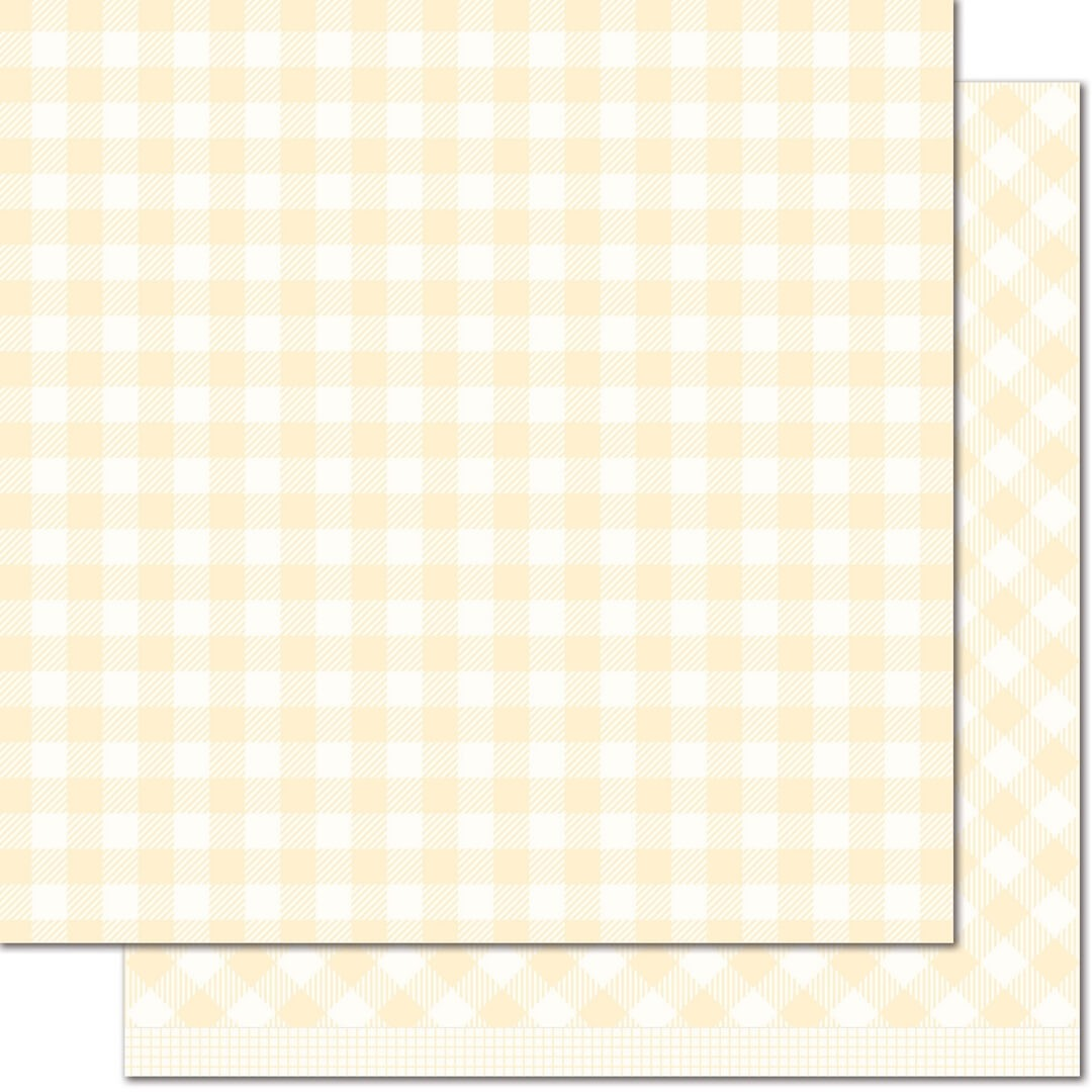 Papel Estampado Doble Cara 12x12 - Gotta Have Gingham - Daisy