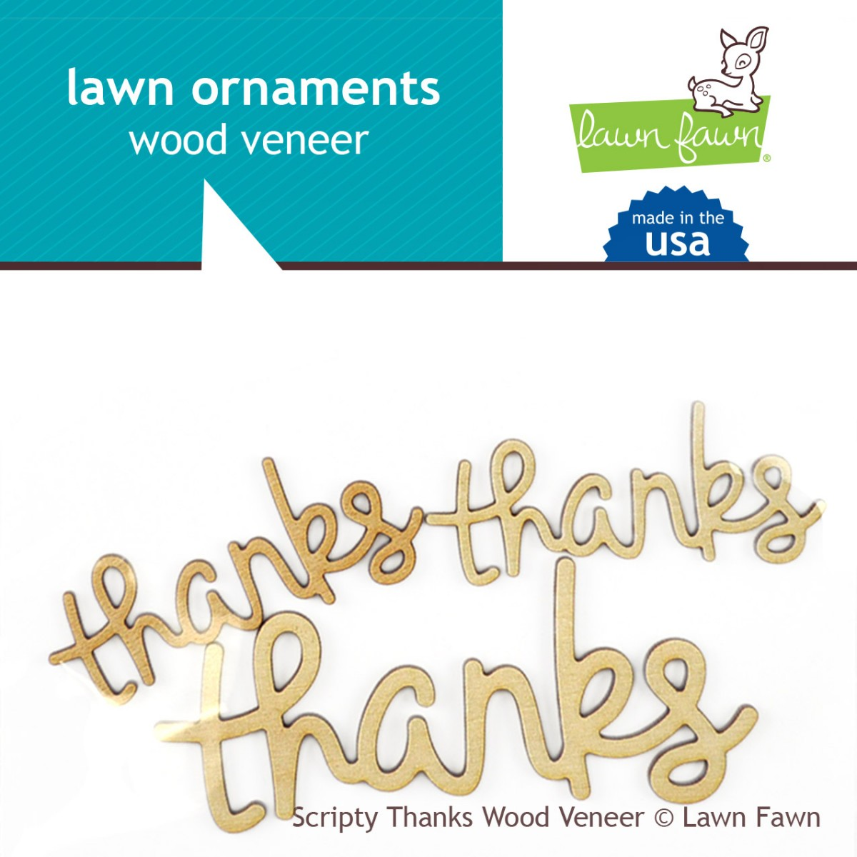 Wood Veneer Scripty Thanks