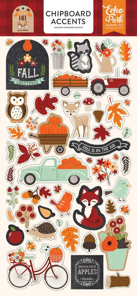 Chipboard 6x13 My Favorite Fall Accents