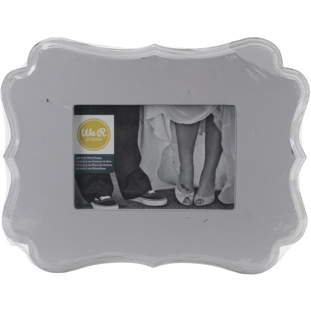 "Decorative Wooden Frame Grey 6"" x 4"""