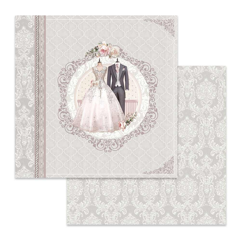 Papel Estampado Doble Cara 12x12 Wedding Ceremony