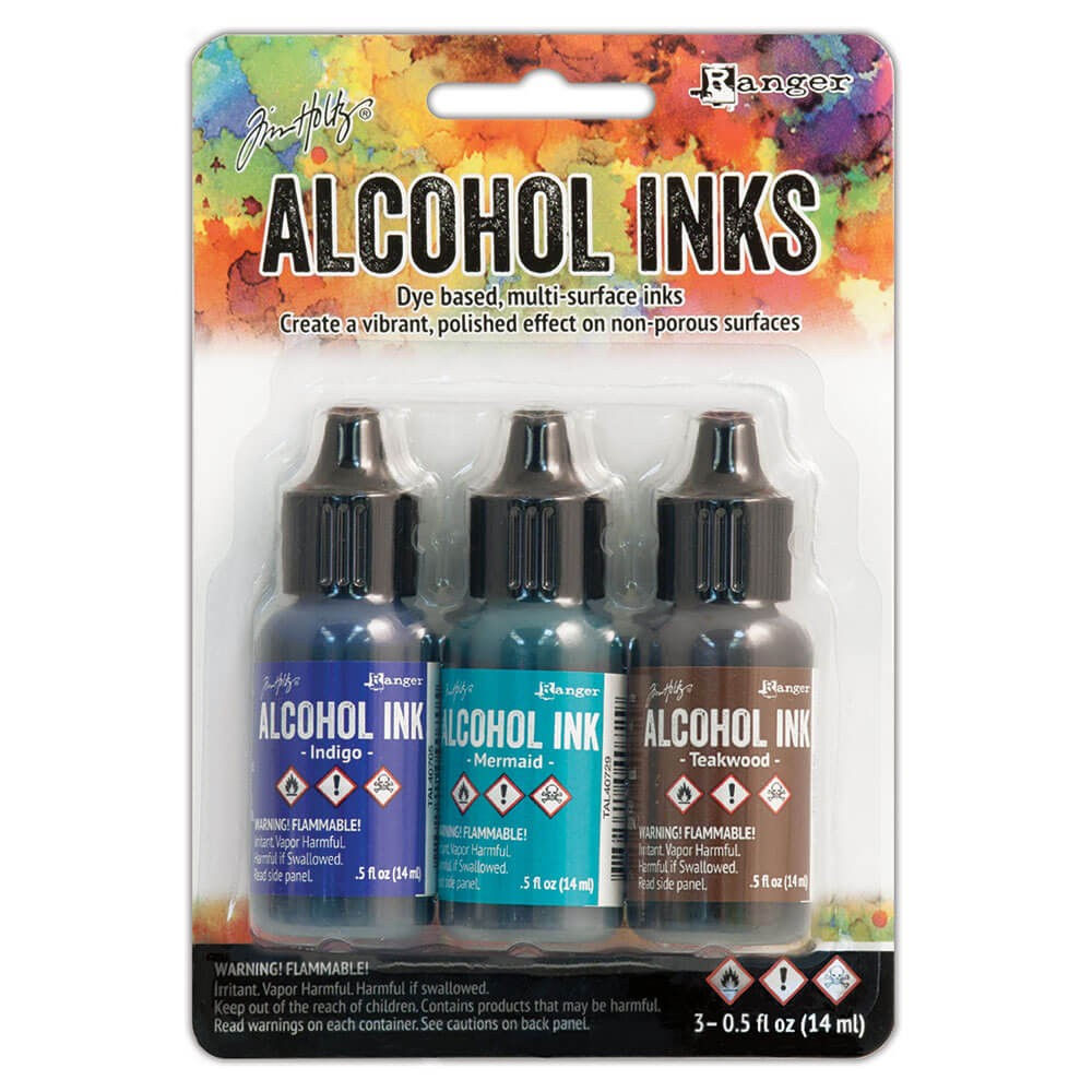 Set 3 Alcohol Inks Mariner