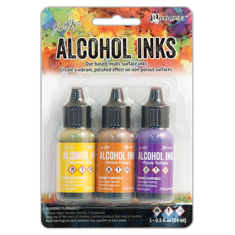 Set 3 Alcohol Inks Summit View