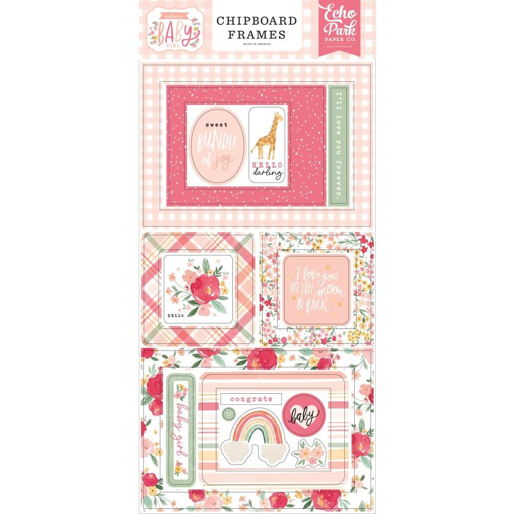 Chipboard 6x13 Welcome Baby Girl Frames