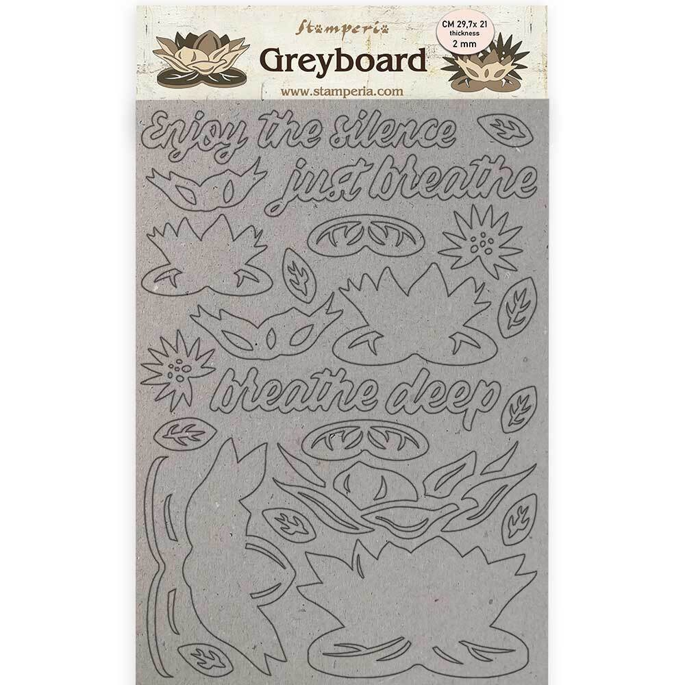 Chipboard A4 Amazonia by Cristina Radovan Water Lily