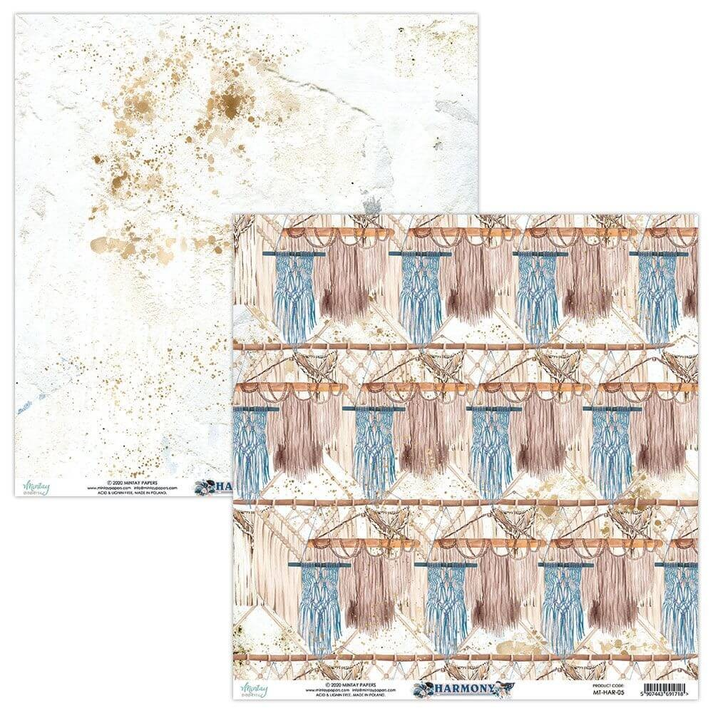 Papel Estampado Doble Cara 12x12 Harmony 05