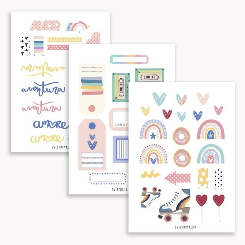 Kit Papeles Recortables A4 Alma Dulce Sweet Candy