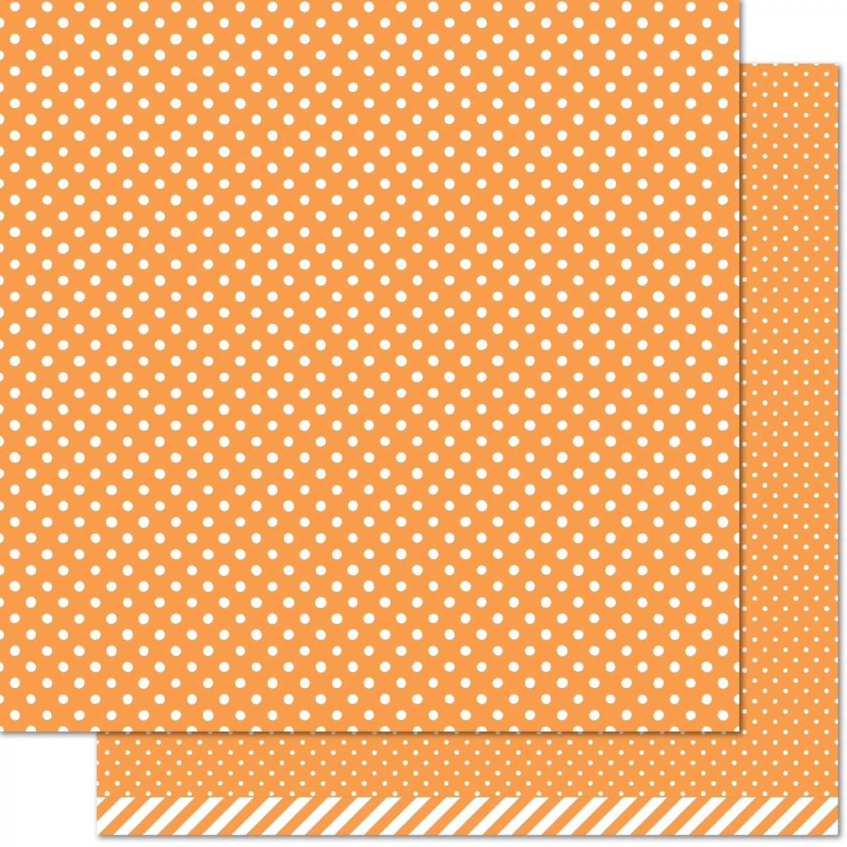 Papel Estampado Doble Cara 12x12 Let's Polka in the dark jack O Lantern