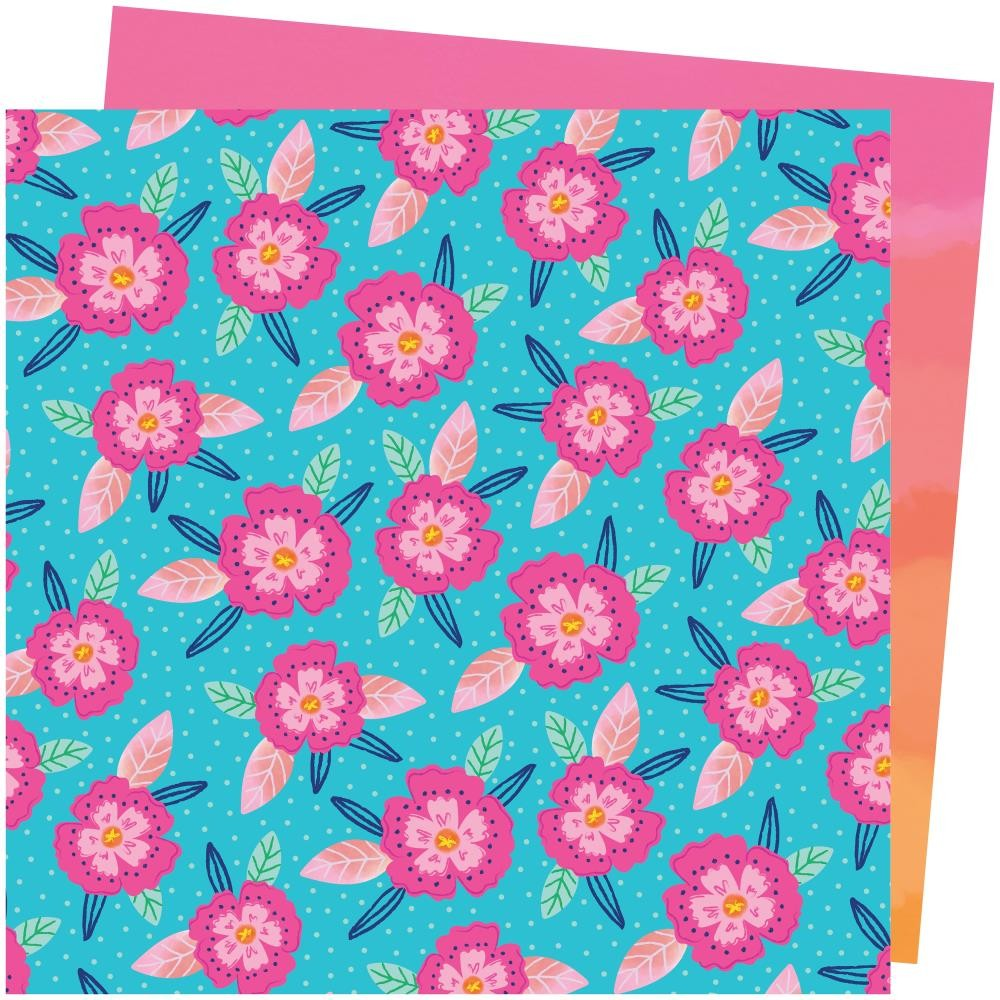 Papel Estampado Doble Cara 12x12 Go To The Scenic Route Paige Evans #24