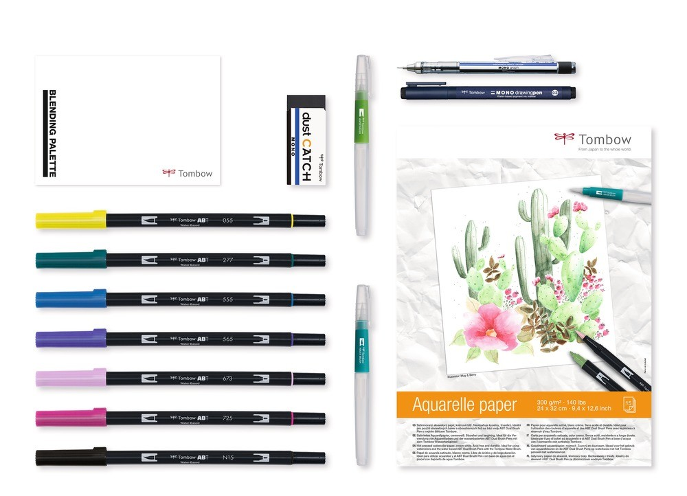 Set Rotuladores Tombow Have Fun @ Home Watercoloring