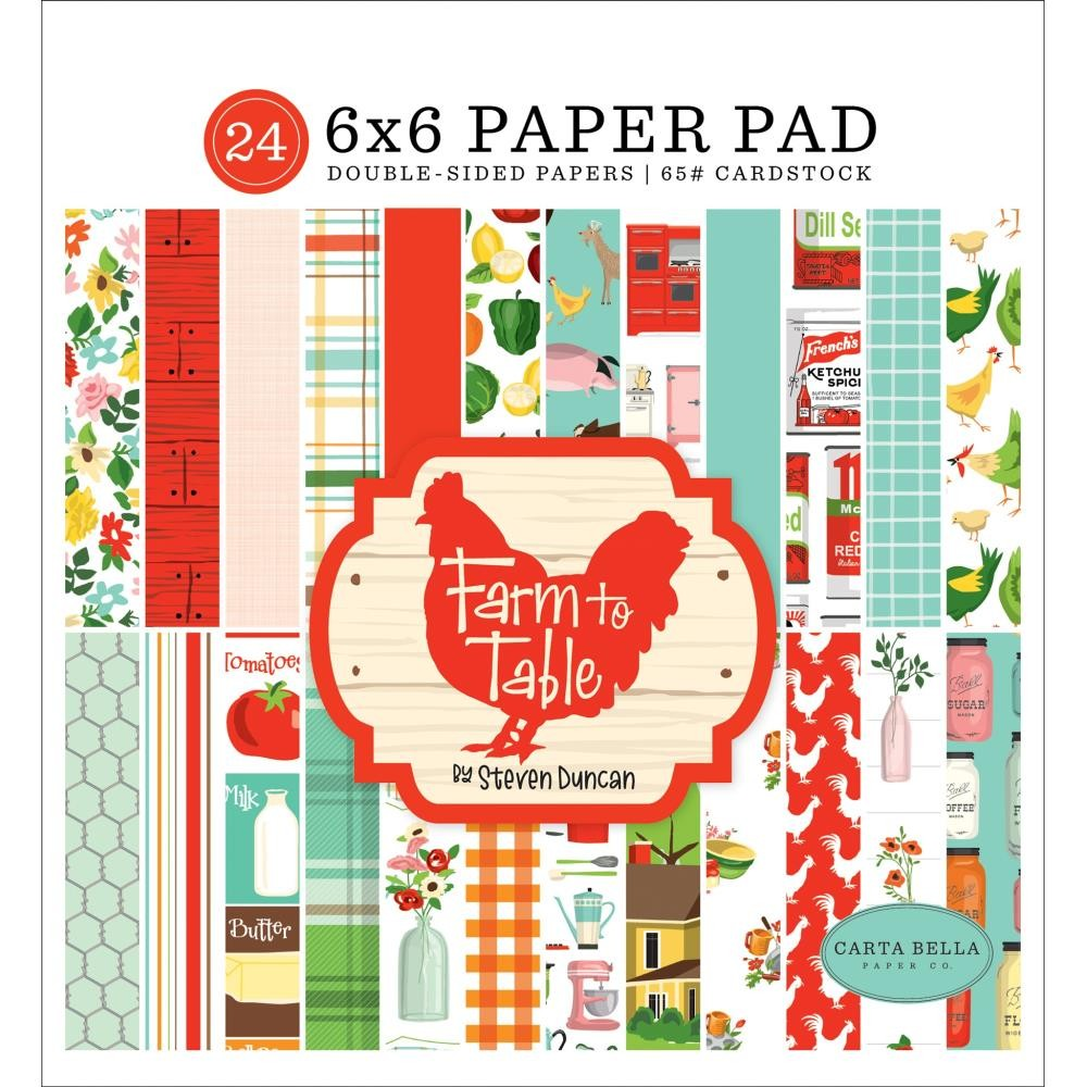 Stack Papeles Estampados 6x6 Farm to Table