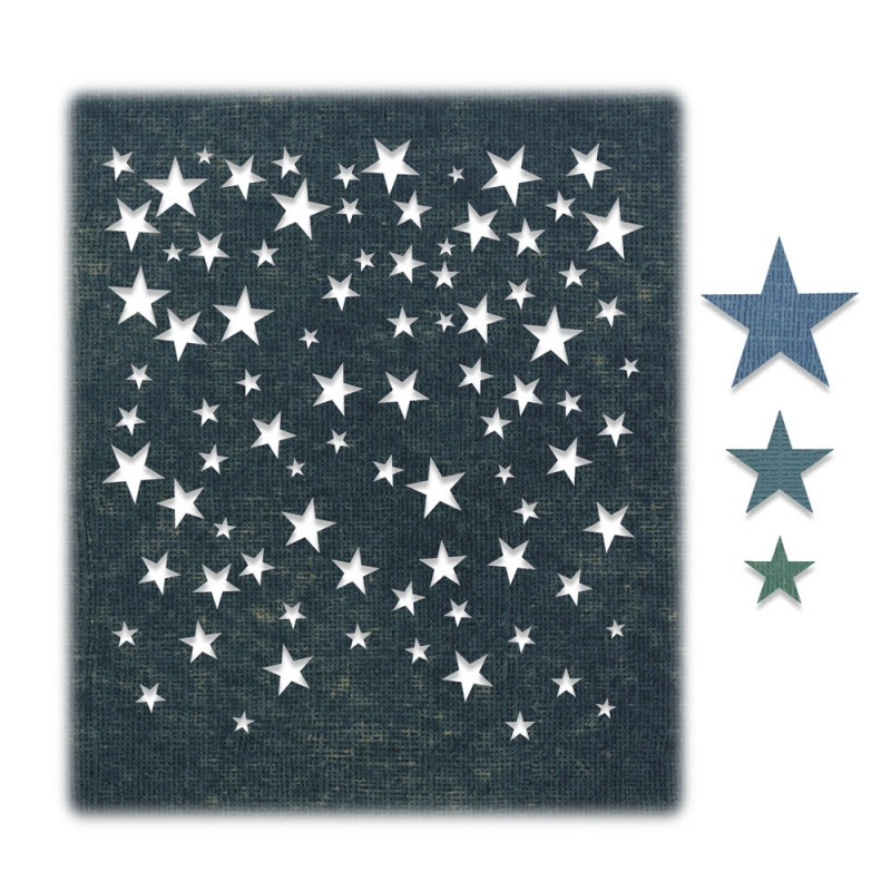 Troquel Thinlits Falling Stars by Tim Holtz
