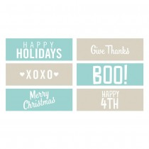 Holiday Phrase Strips Embossing
