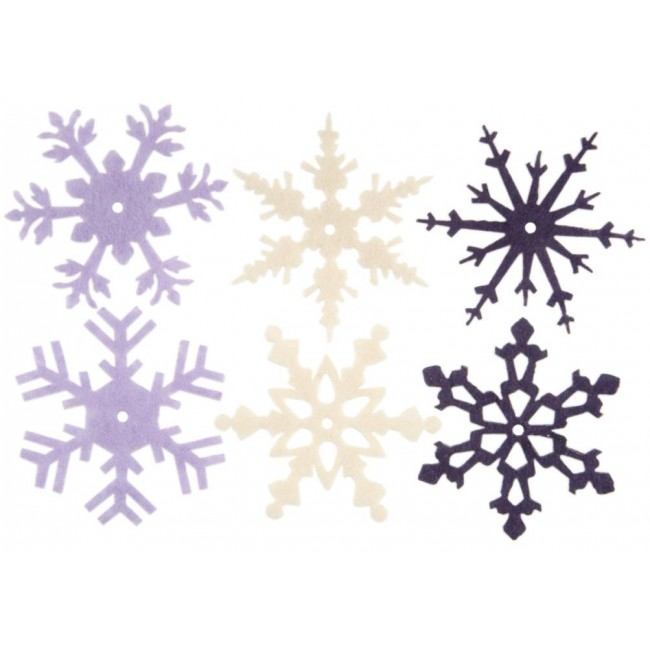 Large Heritage Winter Felt Snowflakes