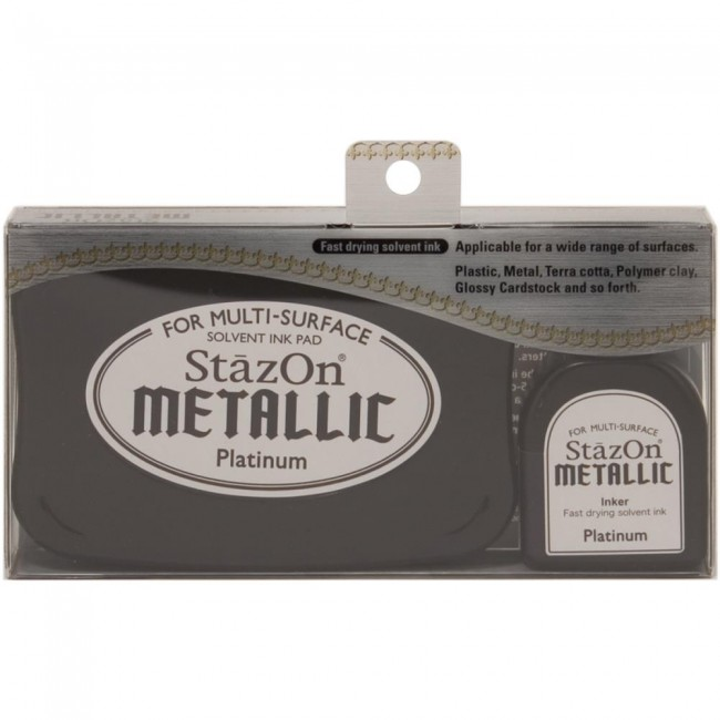 Tinta Stazon Metallic Platinum