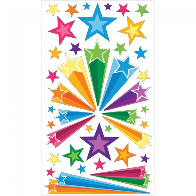 Retro Stars Stickers