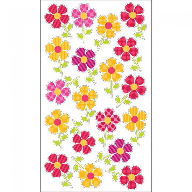 Fun Flower Repeats Stickers