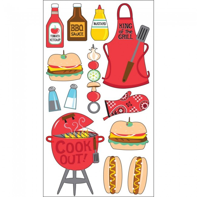 King Of The Grill Stickers