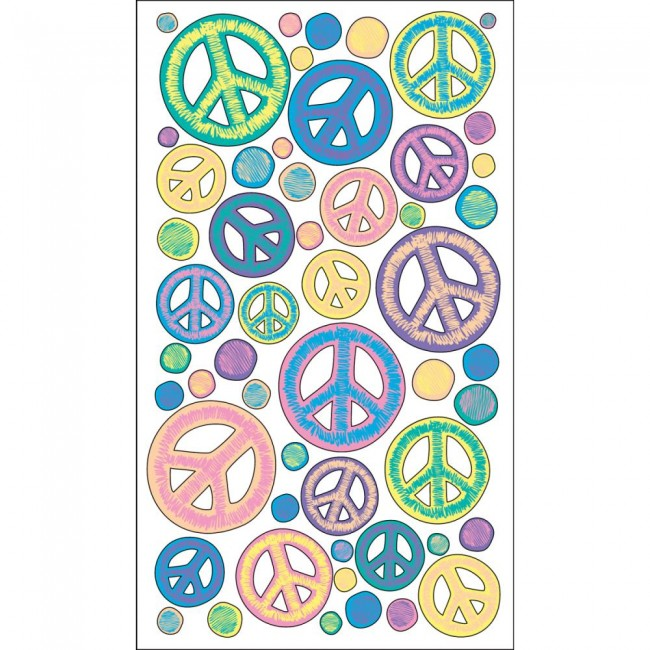 Sketchy Peace Signs Stickers