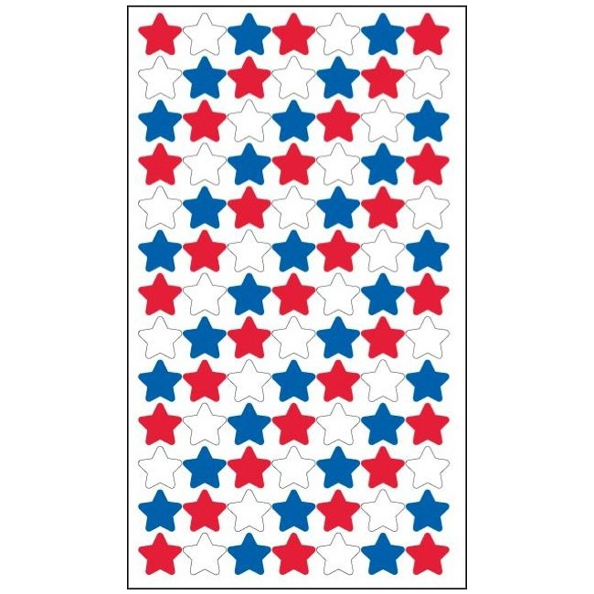 4th Of July Stars Stickers