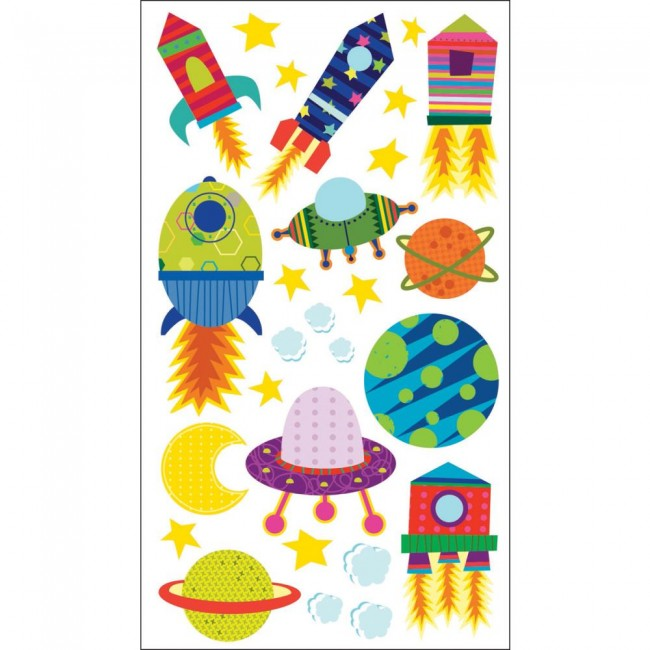 Solar System 'n Rocket Ship Stickers