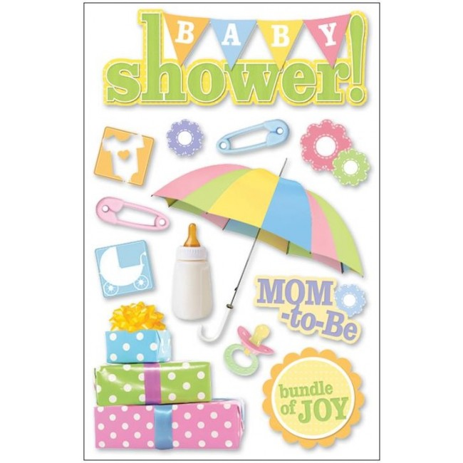 Baby Shower 3D Stickers