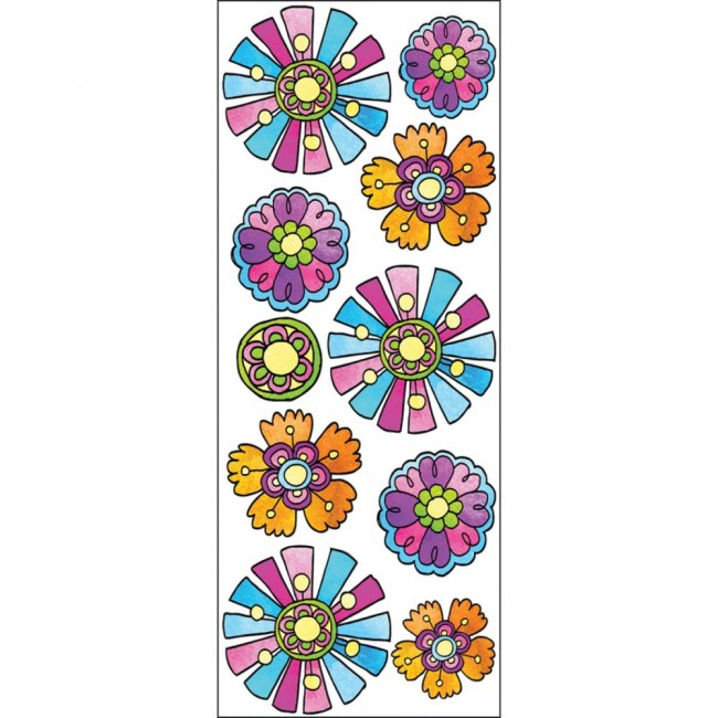 Girly Blooms Stickers
