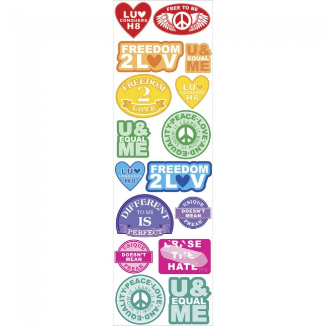 Love Conquers Labels Stickers