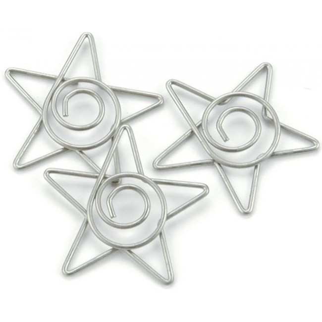 Pewter Star Clips
