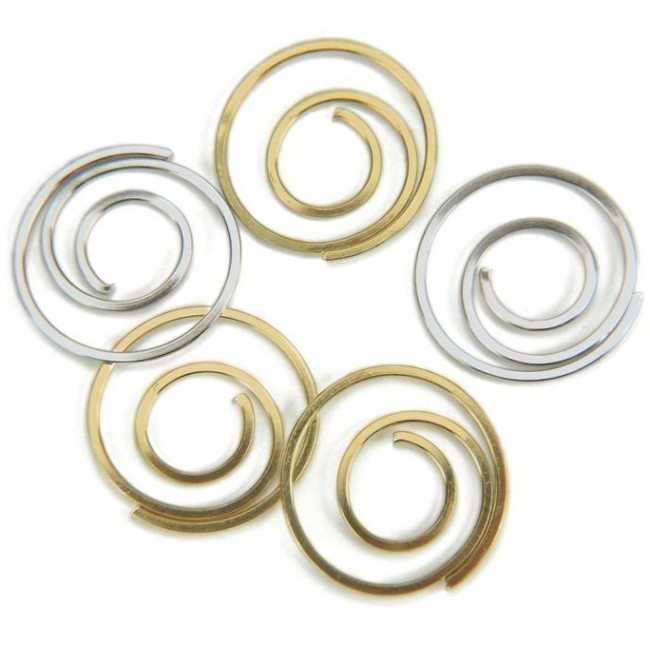Gold & Silver Spiral Clips