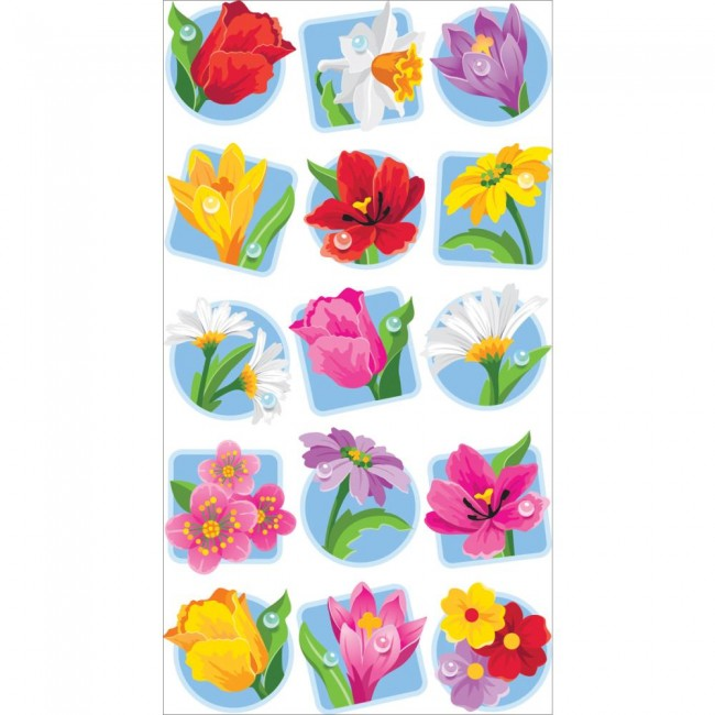 Floral Seals Stickers