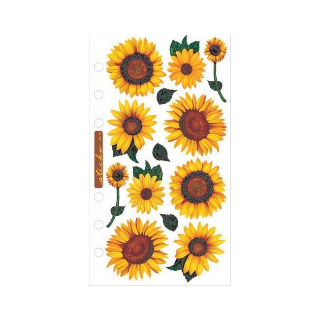 Realistic Sunflowers Stickers