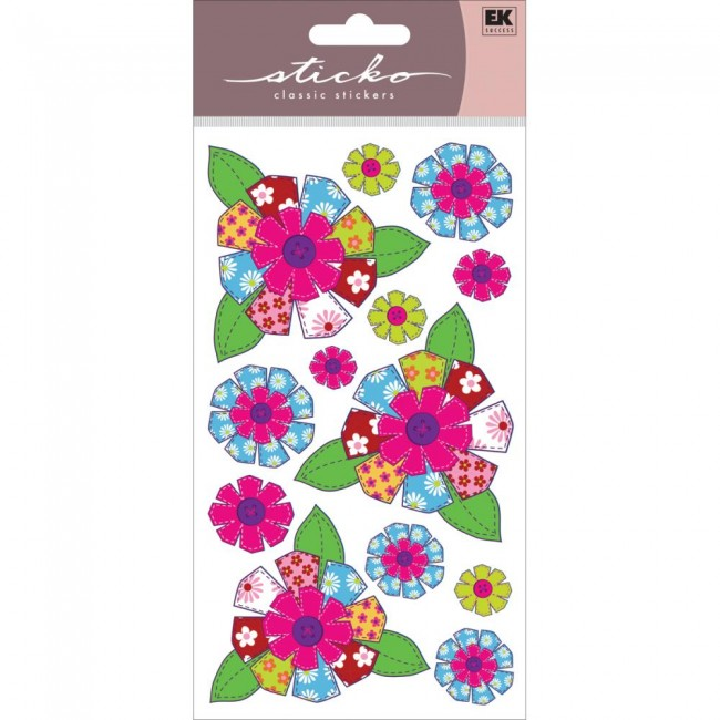 Patterned Flowers Stickers