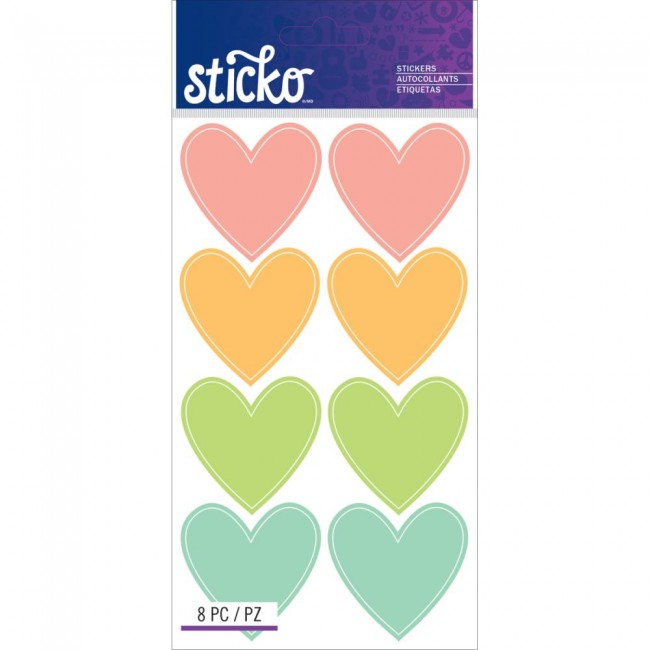 Color Hearts Stickers