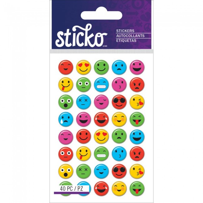 Mini Smile Faces Stickers
