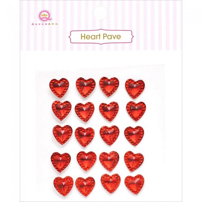 Heart Pave Red